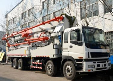 China 52m Length Pump Used Concrete Pump Truck HONGDA Brand EuroⅢ Emission Standard supplier