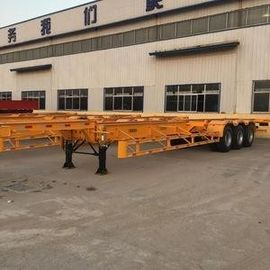China 6850*2500*1400 Mm Second Hand Small Trailers , Used Semi Trailers YORK Brand supplier