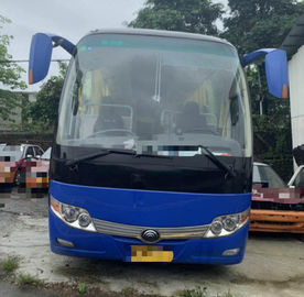 China 15000KG Dark Blue Used Yutong Buses 45 Seat 2014 Year Diesel LHD With A/C supplier