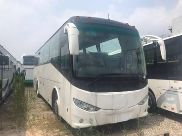 China Diesel Used Coach Bus Shenlong Brand White 50 Seat RHD Drive Mode 2018 Year supplier