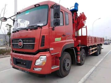 China Red Stretchable Arm Heavy Duty Crane Truck Left Hand Steering 15 - 30 Ton supplier
