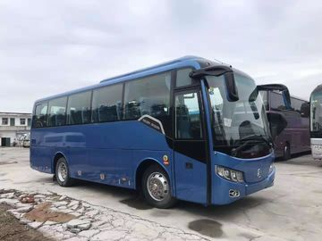 33 Seats 2014 Year Used Travel Bus Used Motor Coaches Blue Color 3300mm Bus Height