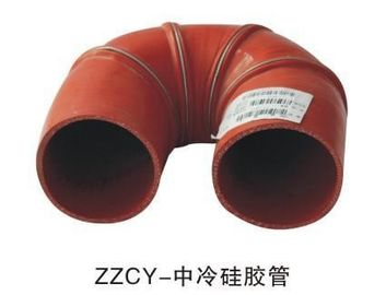 China Standard Size Bus Accessories Red Color Intercooled Silicone Tube For Yutong supplier