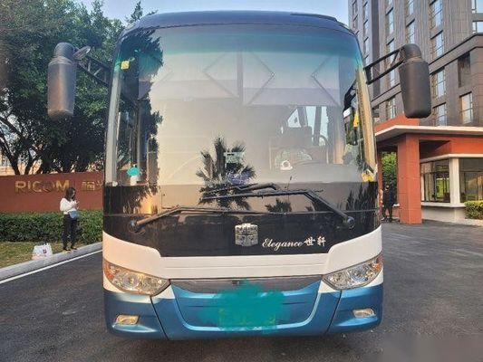 Used Zhongtong Bus LCK6119 48 Seats Rear Yuchai Engine Airbag Chassis Double Doors Nude Packing Left Hand Drive