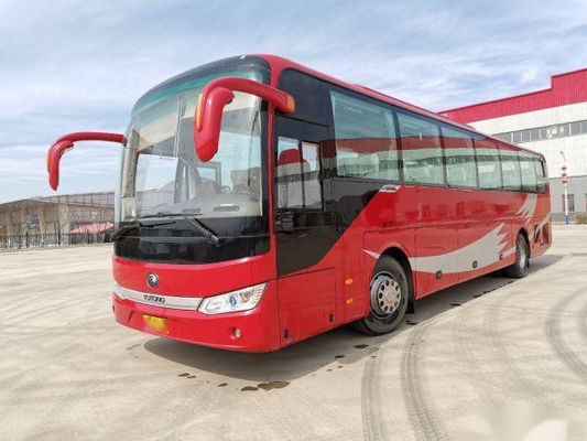 ZK6122 Used Coach Bus Yutong Brand 55 Seats 2017 Low Kilometer Rear Engine Steel Chassis VIP Seats
