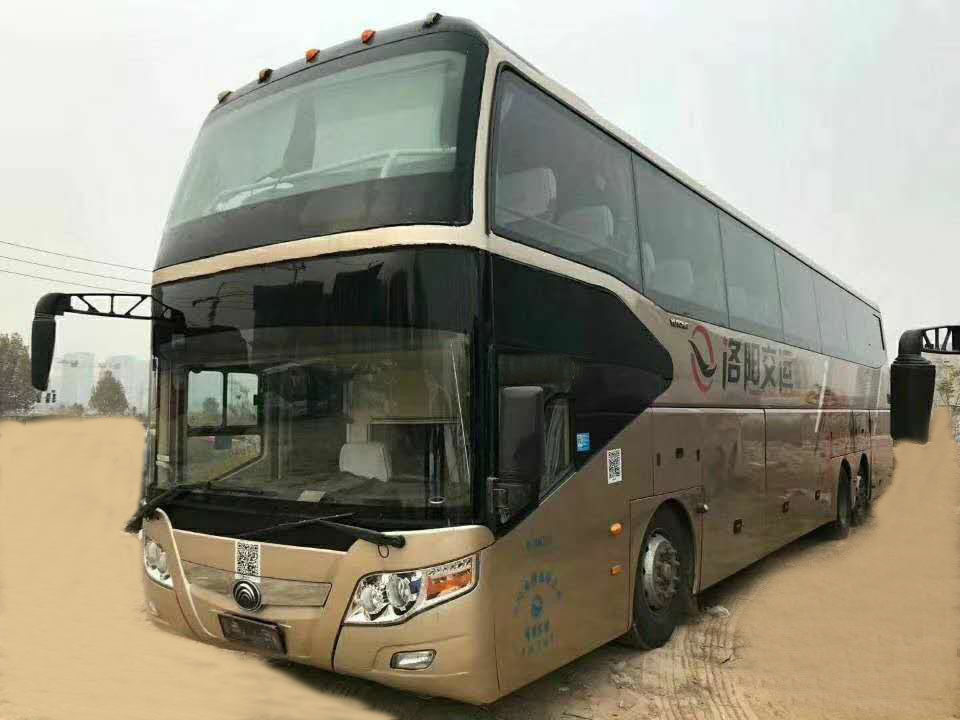White Color 11m Length Used Yutong Coach Bus 51 Seats