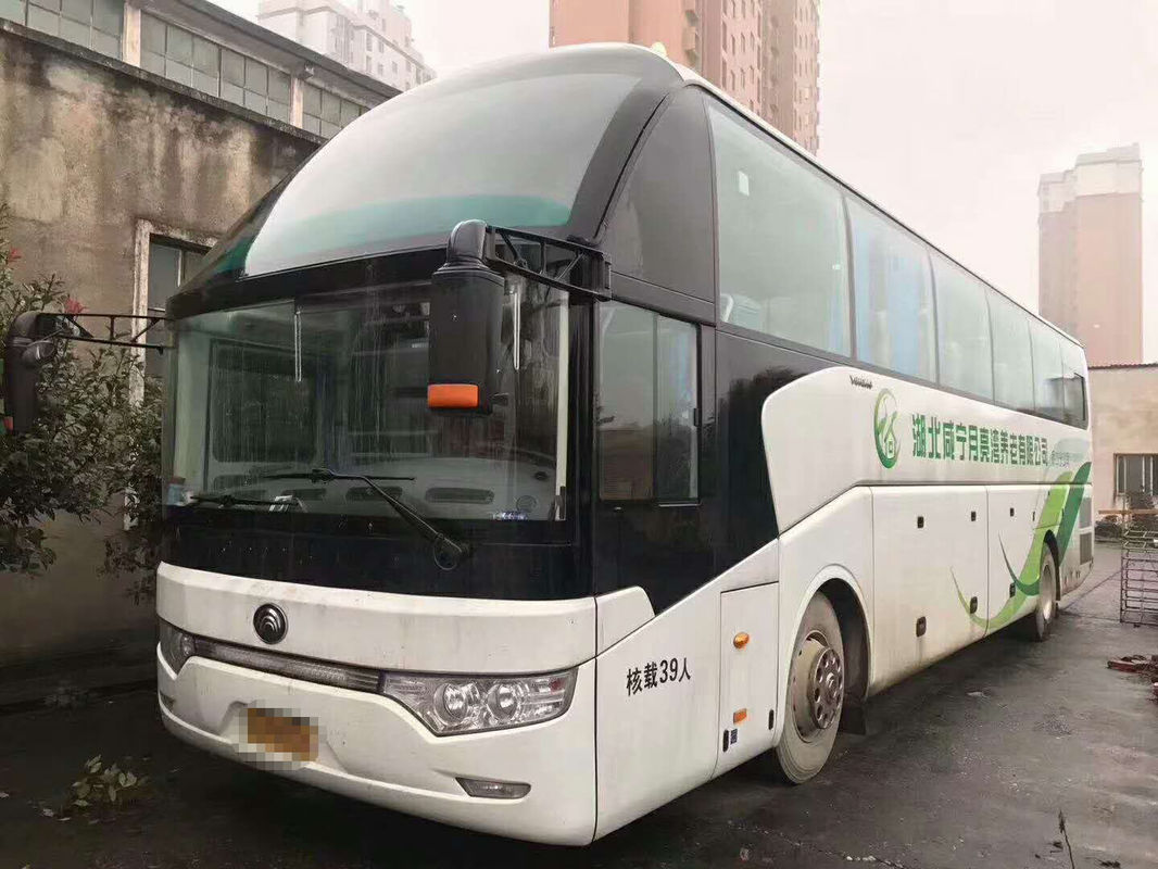 61 Seats High Roof Used Diesel Bus , YUTONG 247KW Used