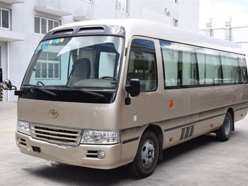 China 13 Seats Used Toyota Bus , Toyota Coaster Used Bus With Luxury Inner Decoration distributor