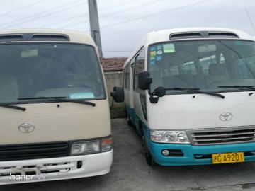 China 22 Seats Second Hand Toyota Coaster Bus , 2013 Year Toyota Coaster Used Japan factory