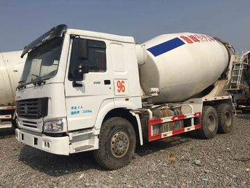 China HOWO Brand Used Concrete Mixer Truck 340hp Rated Power For Construction distributor