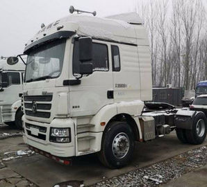 China White Shacman Brand Used Tractor Trailers 350hp Euro V Manual Diesel 2017 Year distributor