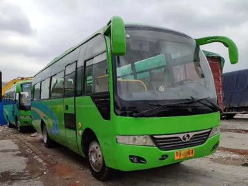 China Left Side Drive Green Second Hand Tourist Bus 35 Seat Diesel Euro IV 8045mm Length factory