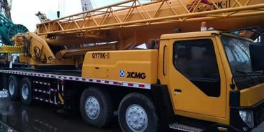 China XCMG Brand Used Truck Crane Mobile 55 Ton Yellow Stretchable Arm Strong Engine Crane factory
