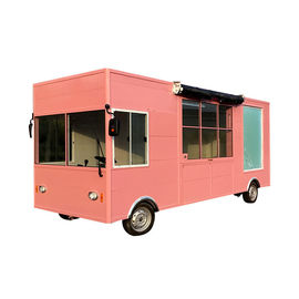 China Integral Steel Frame Street Food Cart Truck With Soft Ice Cream Machine factory
