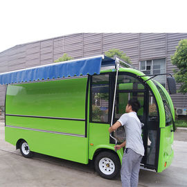 China Street Juice Bar Mobile Food Cart Trailer With Wheels Fiber Glass Material Body distributor