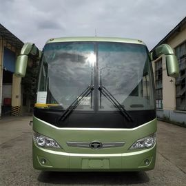 China 63 Seats Diesel Engine Bus Double Back Axle Left Hand Drive 110km/H Max Speed distributor