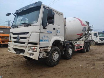 China 13 Ton Rated Load Used Cement Mixer Truck 8x4 Drive Mode 80Km/H Max Speed distributor