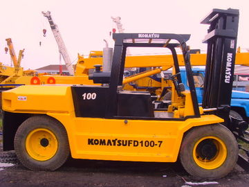 China Used Construction Machines Komatsu Fd100 Diesel Forklift 10 Ton Lift Capacity factory