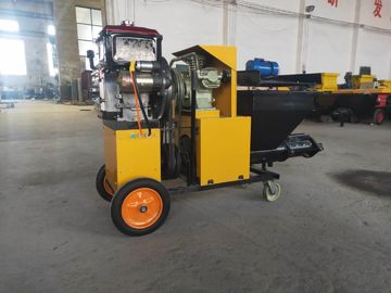 China Diesel Motor Construction Machines Mortar Spraying Machine 6mpa Convey Pressure factory