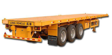 China Steel Flatbed Semi Trailer With 12R22.5 Triangle Tire 40 Feet Container Transport factory