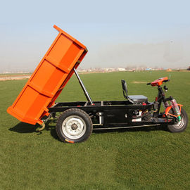 China Small Unloading Dump Construction Tricycle Electric 2000Kg Rated Loading factory