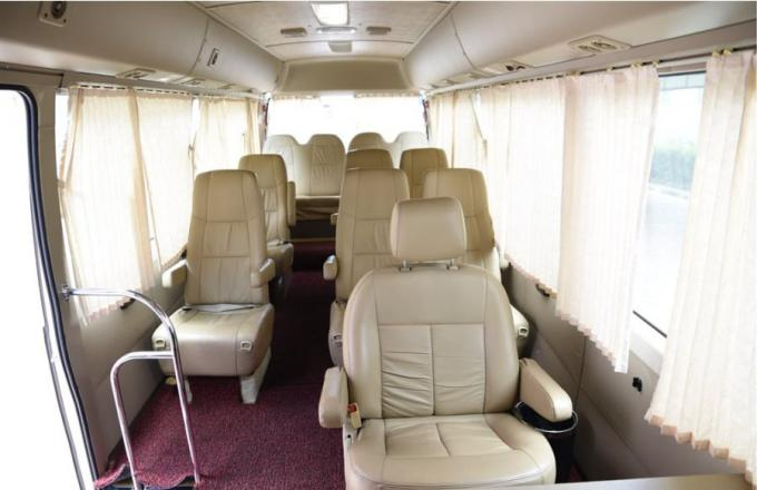 13 Seats Used Toyota Bus , Toyota Coaster Used Bus With Luxury Inner Decoration