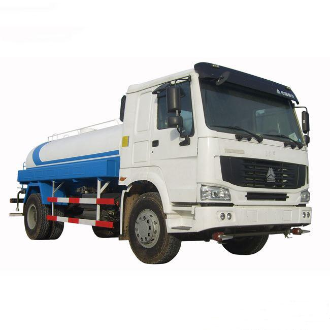 HOWO 336hp Used Water Trucks LHD Driving Type Easy Operation For Road Cleaning