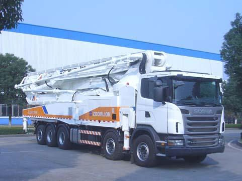 10×4 Drive Mode Scania Used Trucks With 63m Pump 15225×2500×4000mm Dimension