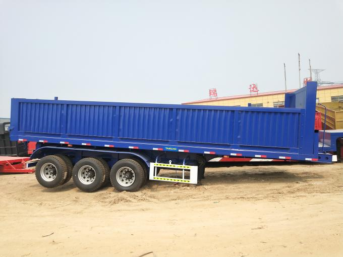 3 Axles Used Truck Trailers , Used Tipper Trailer With 45 Ton Payload