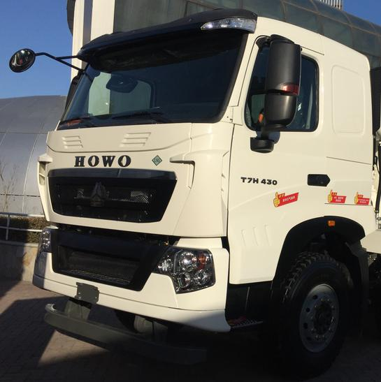 380HP HOWO A7 Used Dump Truck Front Side Lifting Type 300L Fuel Tanker Capacity