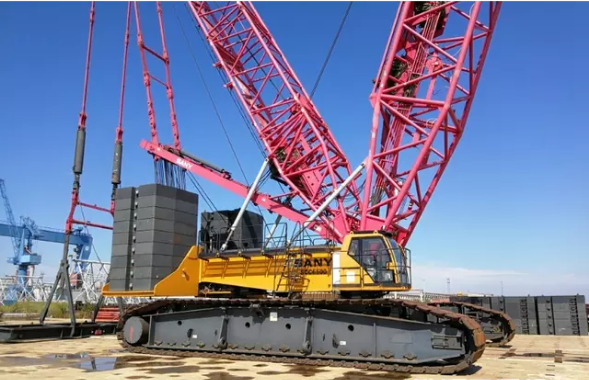 Sany Used Crawler Crane 75 Tons Capacity / Used Caterpillar Machine Made In China