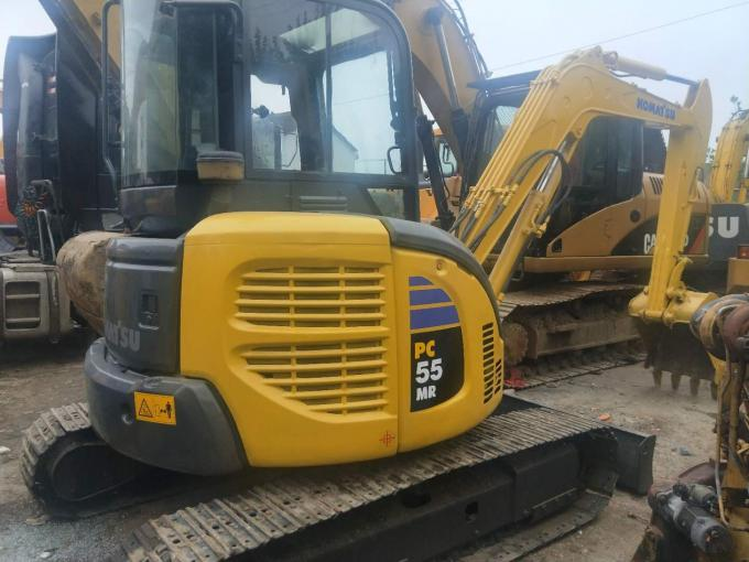 Komatsu Construction Machines Used Excavator PC55 Strong Digging 4L Displacement