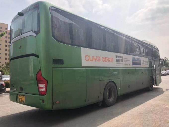 2012 Year Yutong Used Coach Bus 61 Seat / High Roof Green Used Commercial Bus