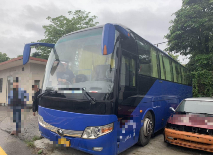 15000KG Dark Blue Used Yutong Buses 45 Seat 2014 Year Diesel LHD With A/C