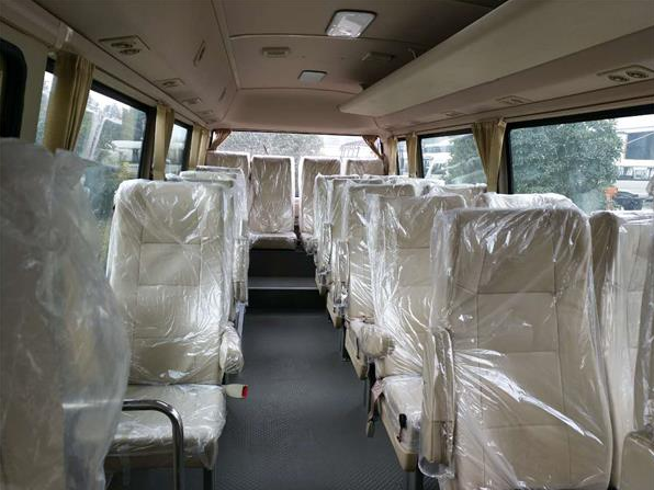 Brand New Mudan 23 Seats Used Coaster Bus Manual Gear Diesel Engine With AC Right Hand Drive