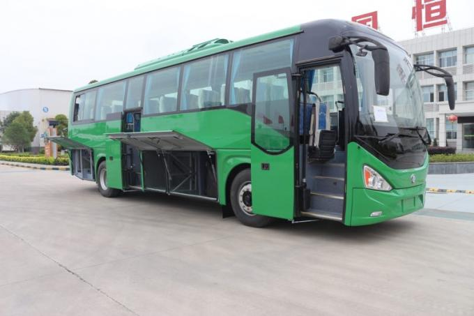 Green Used Coach Bus Diesel 49 Seat Long Tour Bus LHD Equipped A / C Very New 2018 Year