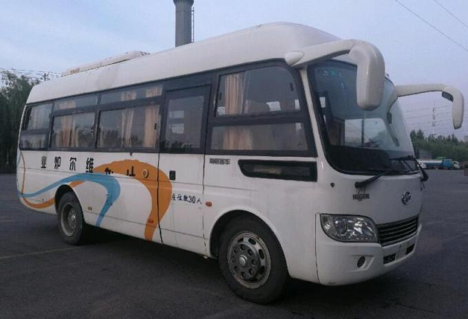 Higer Brand Yuchai Engine Used Commercial Bus 30 Seats 2010 Year 100km / H Speed
