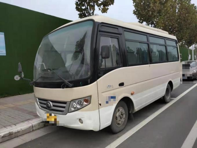 2 Axle Used Yutong Bus With 19 Seats Left Hand Drive Model ZK6608 Nude Packing