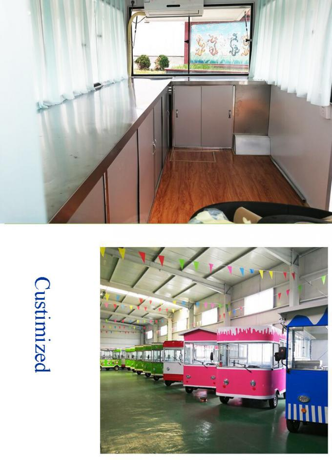 Outdoor Mobile Food Cart Trailer For