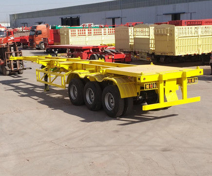 12.5m 3 Axles 40FT Second Hand Semi Trailers Low Flatbed Semi Trailer ISO Certification