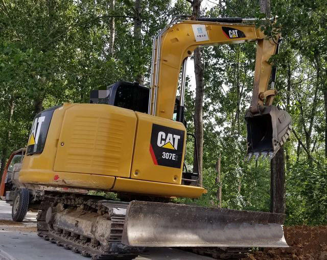 Small Hydraulic Pressure Construction Machines 2008 Years Used Excavator CAT 307E2