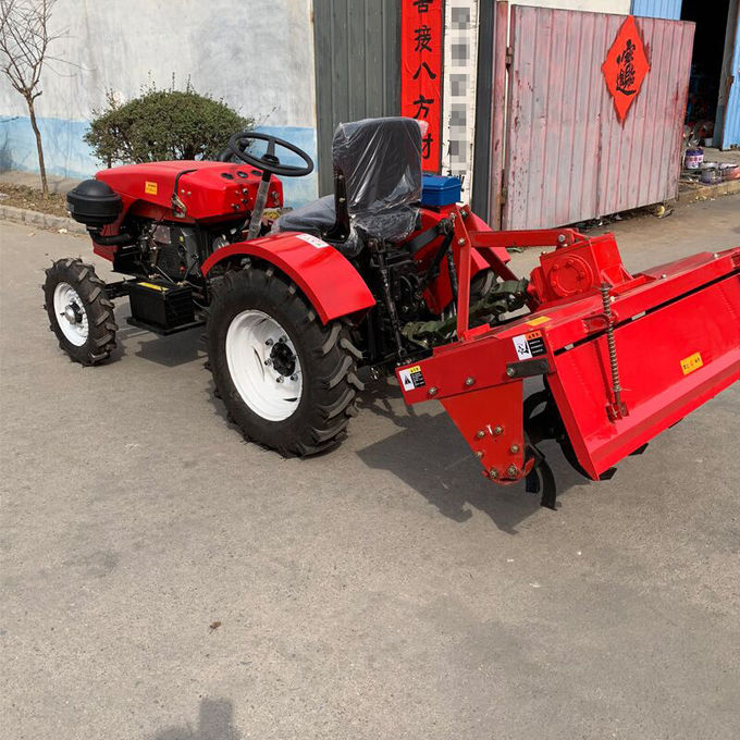 4WD Green Compact Diesel Tractor , Small Farm Tractors 18
