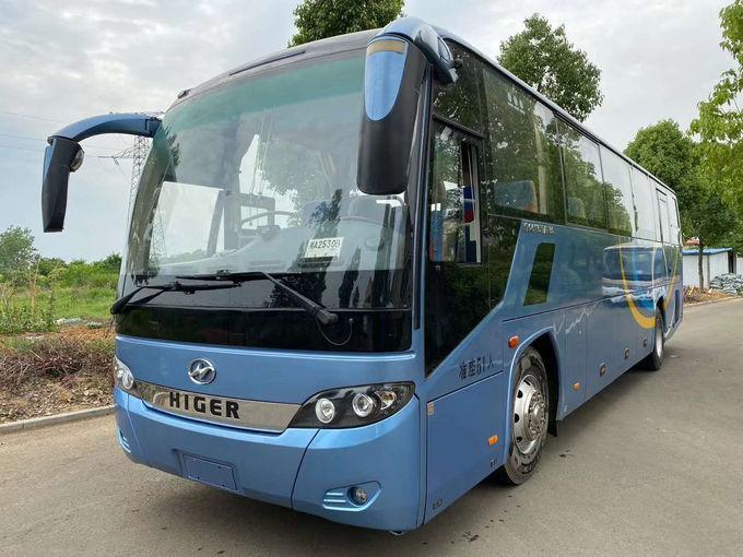55 Seat Higer Red Travel Used Passenger Bus KLQ6147 Diesel